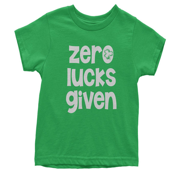 Zero Lucks Given St Paddy's Day Youth T-shirt