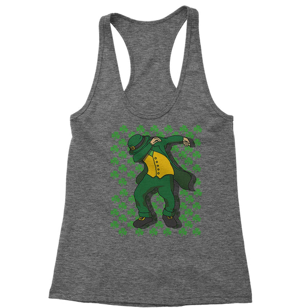 St Patricks Day Dab Racerback Tank Top for Women