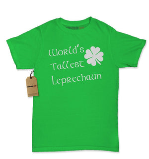 World's Tallest Leprechaun Shamrock Womens T-shirt