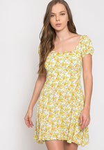 Hermosa Floral Off Shoulder Dress