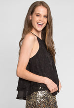 Neutral Burnout Chiffon Tank Top
