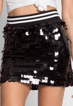 Cheers Sequin Mini Skirt