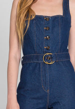 High Luxe Denim Jumpsuit