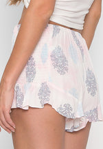 Watercolors Printed Lounge Shorts