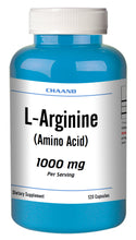 Load image into Gallery viewer, L-Arginine 1000mg 120 Capsules High Potency, Best Quality BIG BOTTLE CH