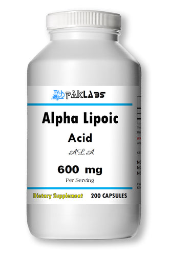 ALA Alpha Lipoic Acid 600mg Serving Extreme Strength Big Bottle 200 Capsules PL