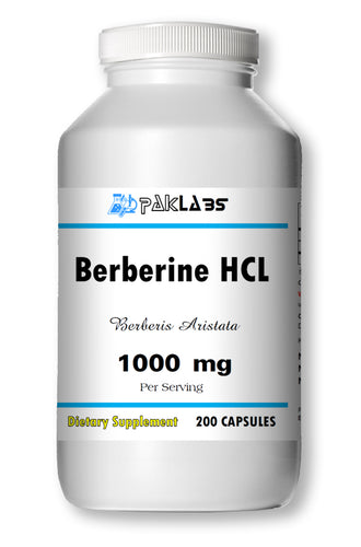Berberine HCl 1000mg Diabetes,Depression,Cholesterol,Heart Big Bottle 200 Capsules PL