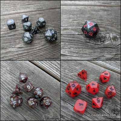 Chaotic Evil Customs from The Void - Handmade Dice Sets for TTRPGs