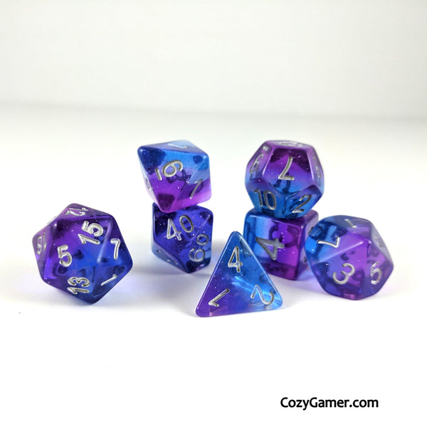 Twilight DnD Dice Set, Semi Translucent Gradient Dice