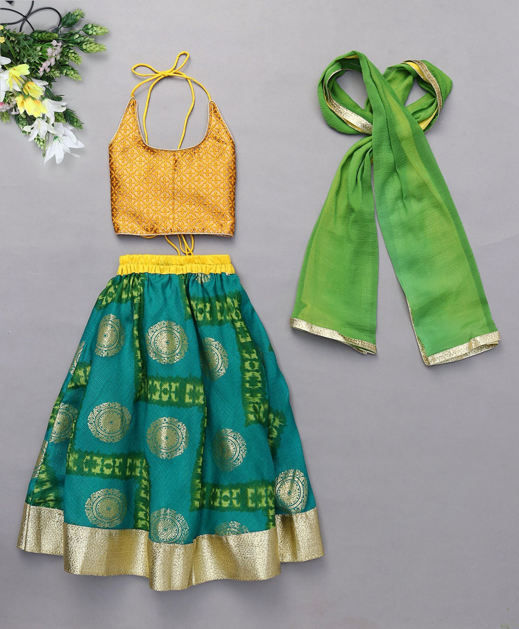 chanderi cotton Lehenga Choli for girls