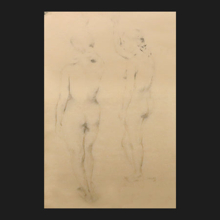 Two Nudes Art by Akbar Padamsee