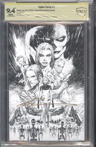 Cyber Force #1 Convention CBCS 9.4 signed by Marc Silvestri