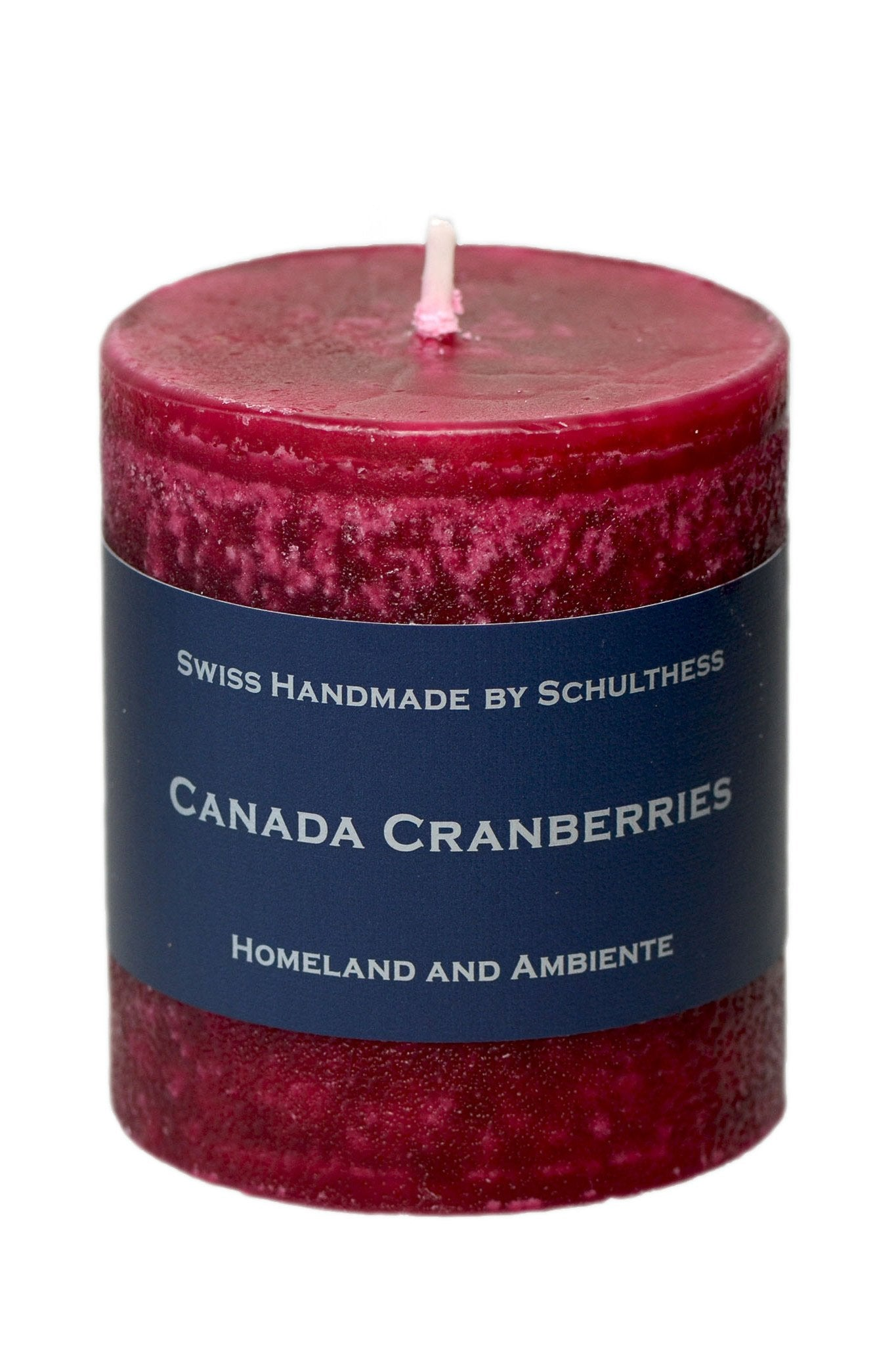 Schulthess Duftkerze, Canada Cranberries, Ø 70 mm Höhe 80 mm