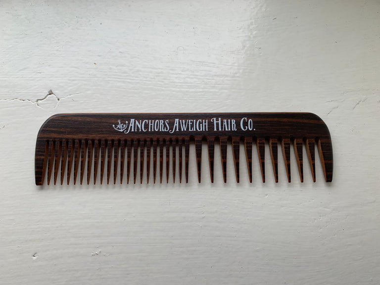 Wooden Comb - Anchors Aweigh Hair Co. - Anchors Aweigh Hair Co.