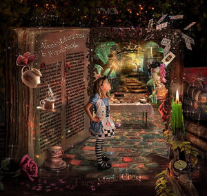 Alice in Wonderland digital background / backdrop