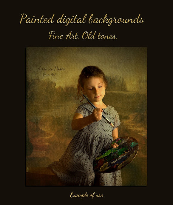 Painted digital backgrounds by Anrusa Paris