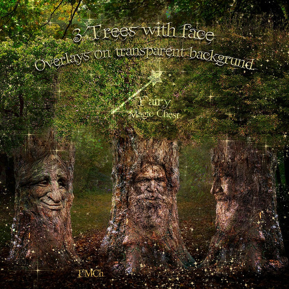 Trees with face overlays