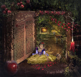 Snow white digital background / backdrop magical book