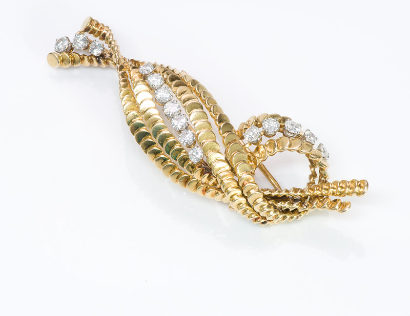 Boucheron Paris Diamond 18K Gold Brooch Pin-1