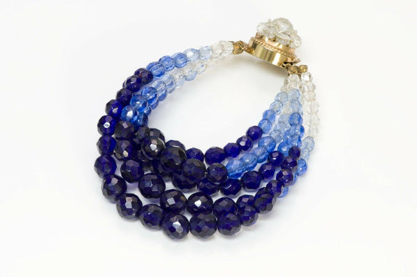 Coppola e Toppo Blue Crystal Multi Strand Beads Bracelet1