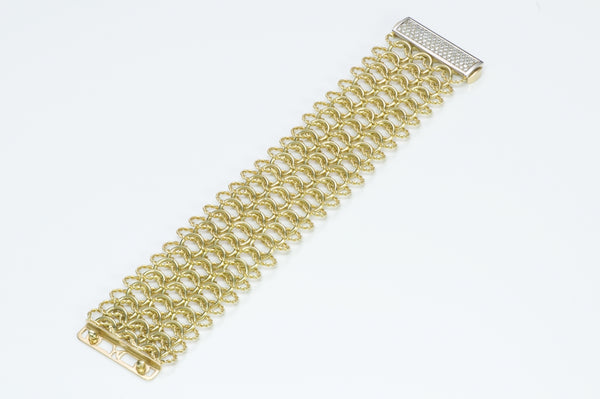 David Yurman Gold Diamond Bracelet