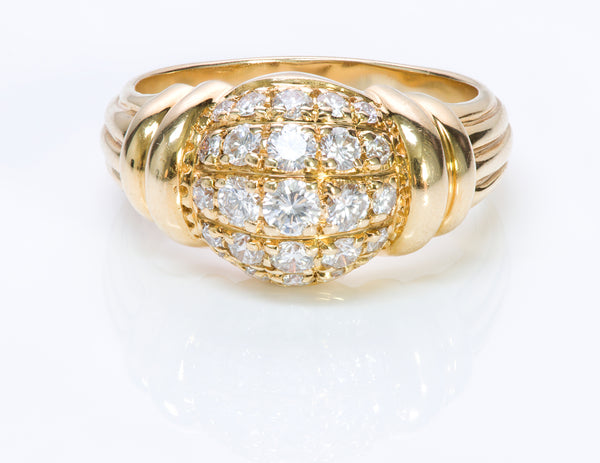 Boucheron 18K Yellow Gold Diamond Dome Ring-2