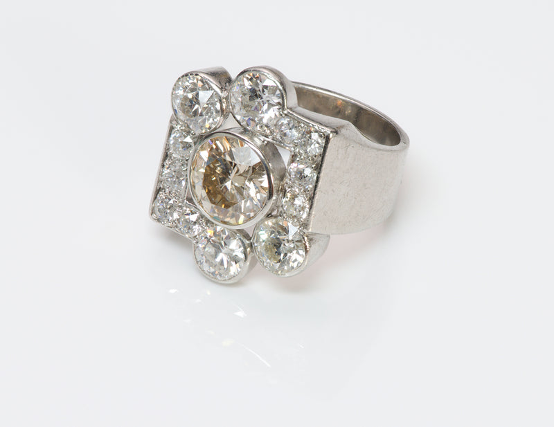 Vintage Diamond Platinum Ring-2