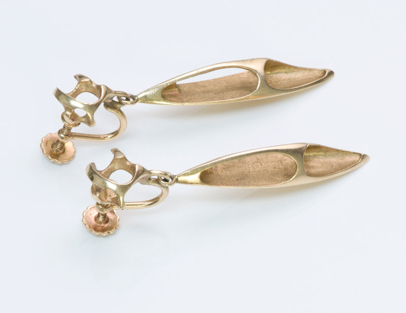 Ed Wiener Gold Earrings