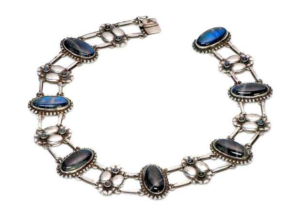 Georg Jensen Labradorite 830 Silver Necklace