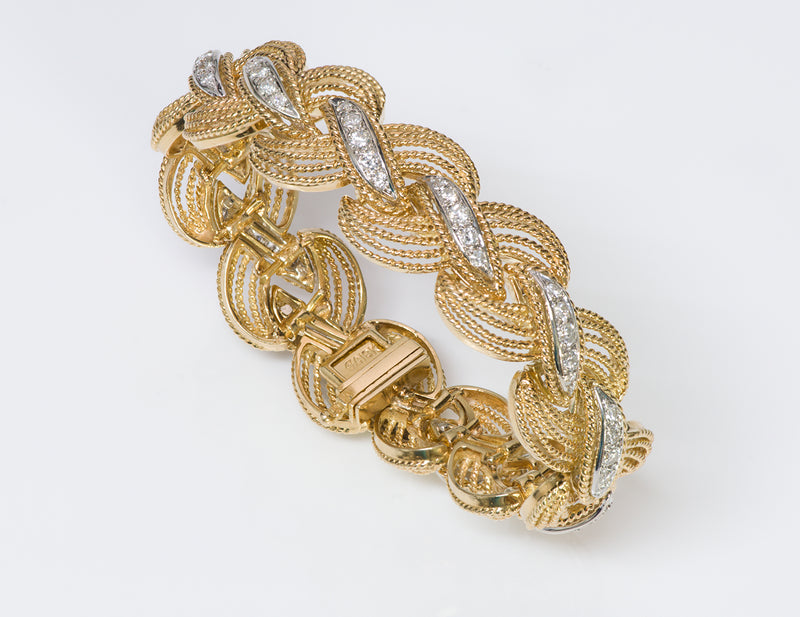 Hammerman Brothers 18K Gold Diamond Bracelet -2