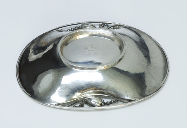 Georg Jensen Sterling Silver Blossom Oval Bowl No. 2
