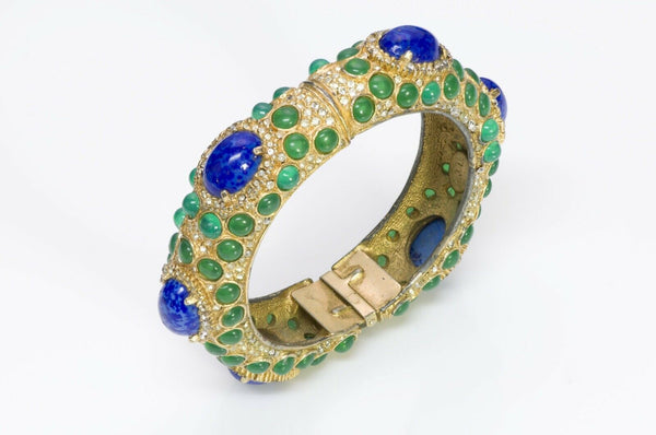 Kenneth Jay Lane KJL 1960's Moghul Style Bangle Bracelet