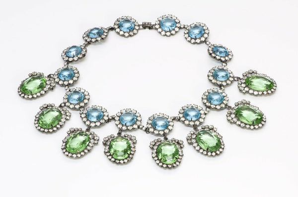 "Kenneth Jay Lane KJL ""Treasures of the Duchess"" Crystal Necklace"