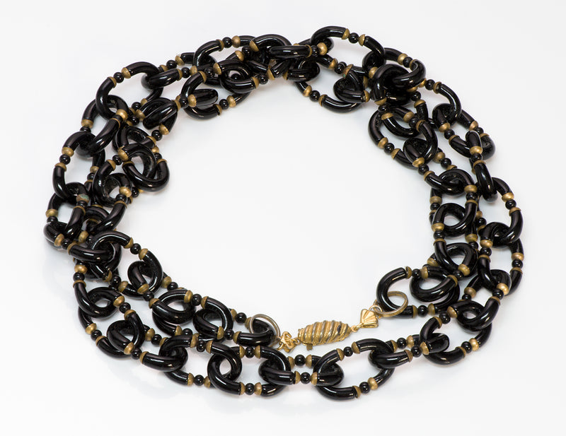 Archimede Seguso for Chanel Glass Chain Link Necklace