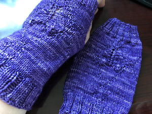 One Girl Five By Five Fingerless Mitts