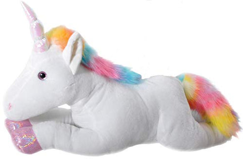 The Petting Zoo - 36  Super Soft Jumbo Rainbow Unicorn - Great For Baby/Toddlers/Kids - Boys &Amp; Girls - Stuffed Animal Toy, Plush, Gift, Baby Dolls, Great Birthday Gifts For Kids - Certified Warranty