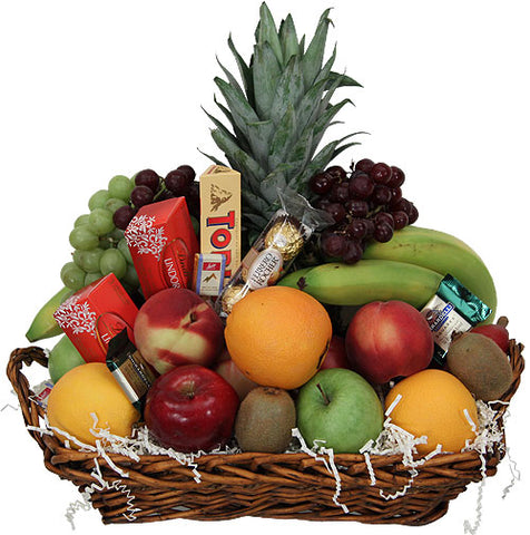 Fresh Fruit & Chocolates Basket