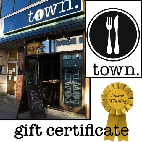 town. gift certificate
