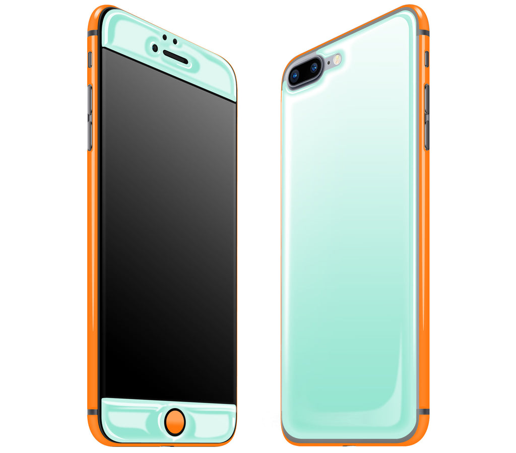 Mint / Neon Orange <br>iPhone 7/8 PLUS - Glow Gel Combo