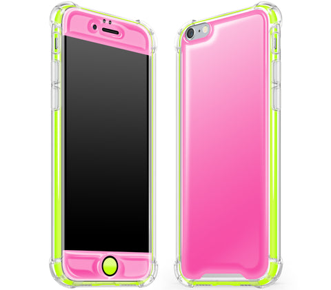 Cotton Candy / Neon Yellow <br>iPhone 6/6s - Glow Gel case combo