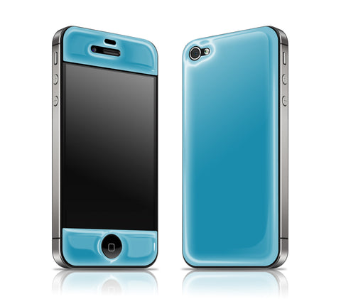 Electric Blue<br> Glow Gel skin - iPhone 4 / 4s