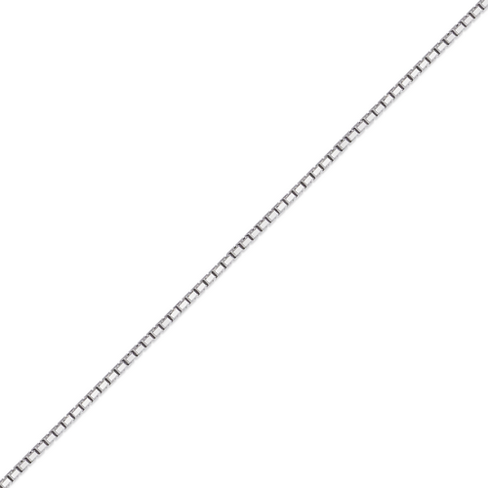 Women's 14k White Gold .8mm Box Chain Necklace