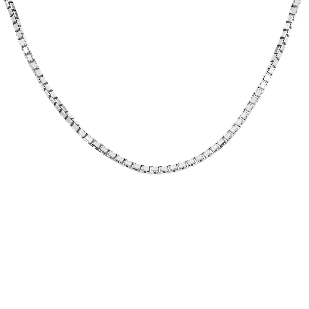 Women's 14k White Gold .6mm Box Chain Necklace