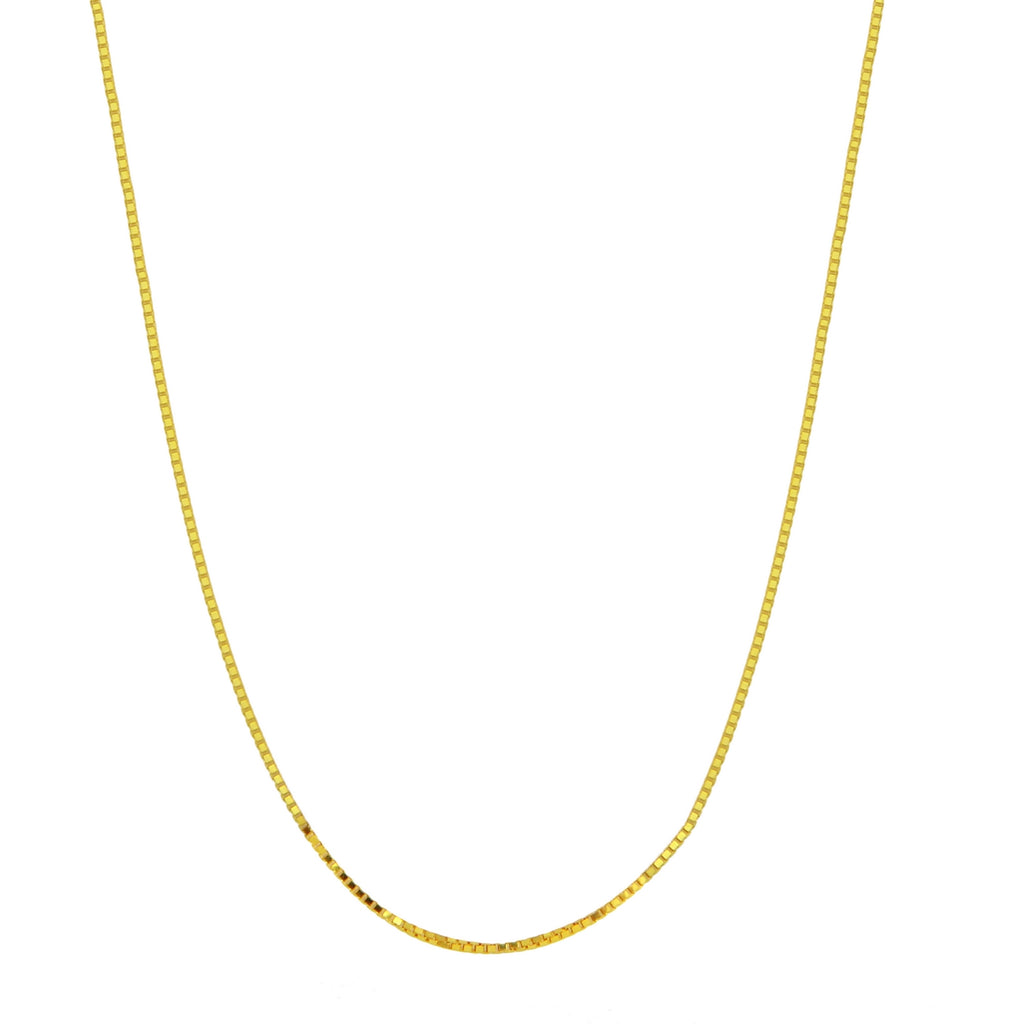 Women's 14k Yellow Gold 1.0mm Box Chain Necklace