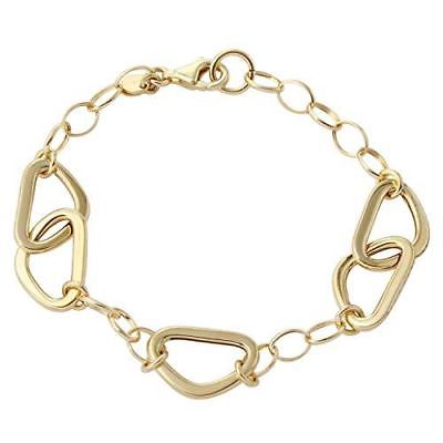Women's 14k Yellow Gold Italian Link Bracelet, 7.5""