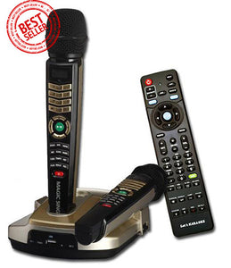 Refurbished Magic Sing ET-23KH · HD Resolution Karaoke · Two (2) Wireless Microphones · English · Spanish · Tagalog · Built-in Songs · One (1) FREE Pop Song Chip Included