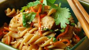 Sesame Chicken Pasta Salad