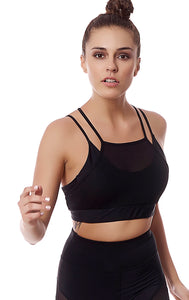 ISLAND DOUBLE BRA - BLACK