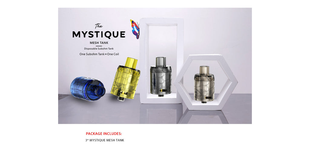 IJOY Mystique Mesh Tank Package Includes