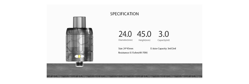 IJOY Mystique Mesh Tank Specifications